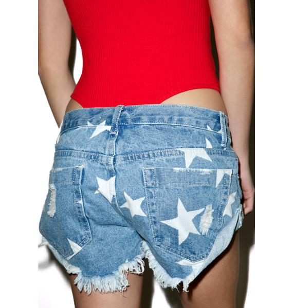 Glamorous Springsteen Denim Shorts