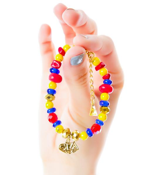 Joyrich x Giza 3D Logo Micro Beaded Bracelet