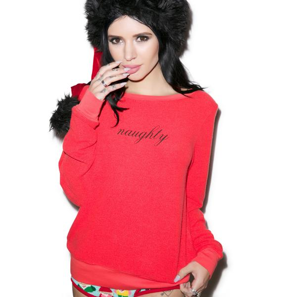 Wildfox Couture Naughty Baggy Beach Jumper