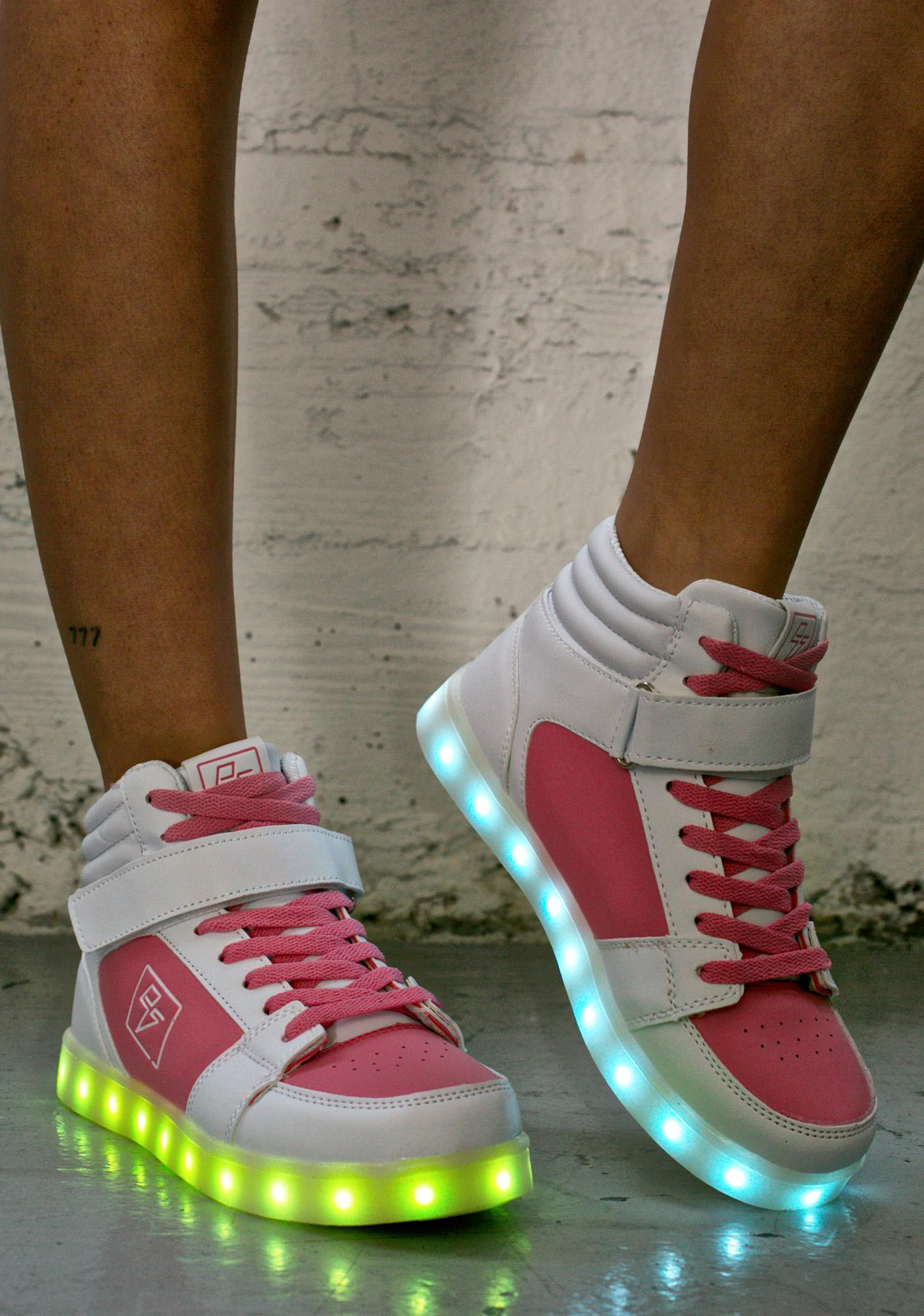 Electric Styles Athena Light Up High Top Shoes