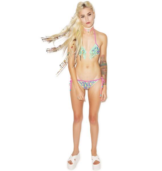 Tasmania Fringe Brazilian Bikini Set