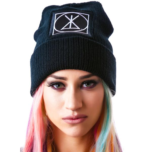 Long Clothing Icon Large Patch Beanie