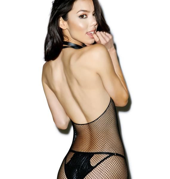 Posso LaLa Land Fishnet Halter Onsie