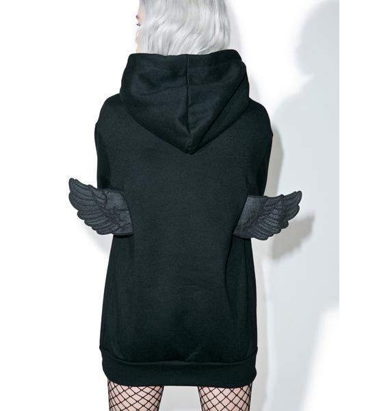 Lil Fallen Angel Oversized Hoodie