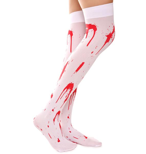 Bloody Zombie Thigh Highs