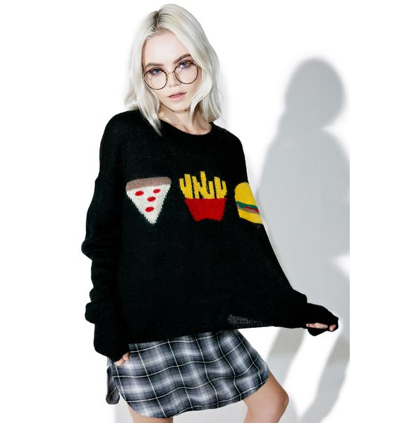 Wildfox Couture Fries With That Lunchtime Sweater