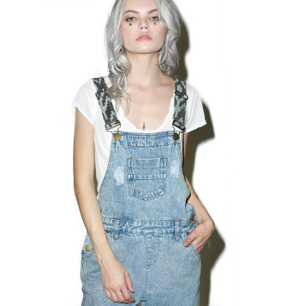 Desperado Distressed Overalls