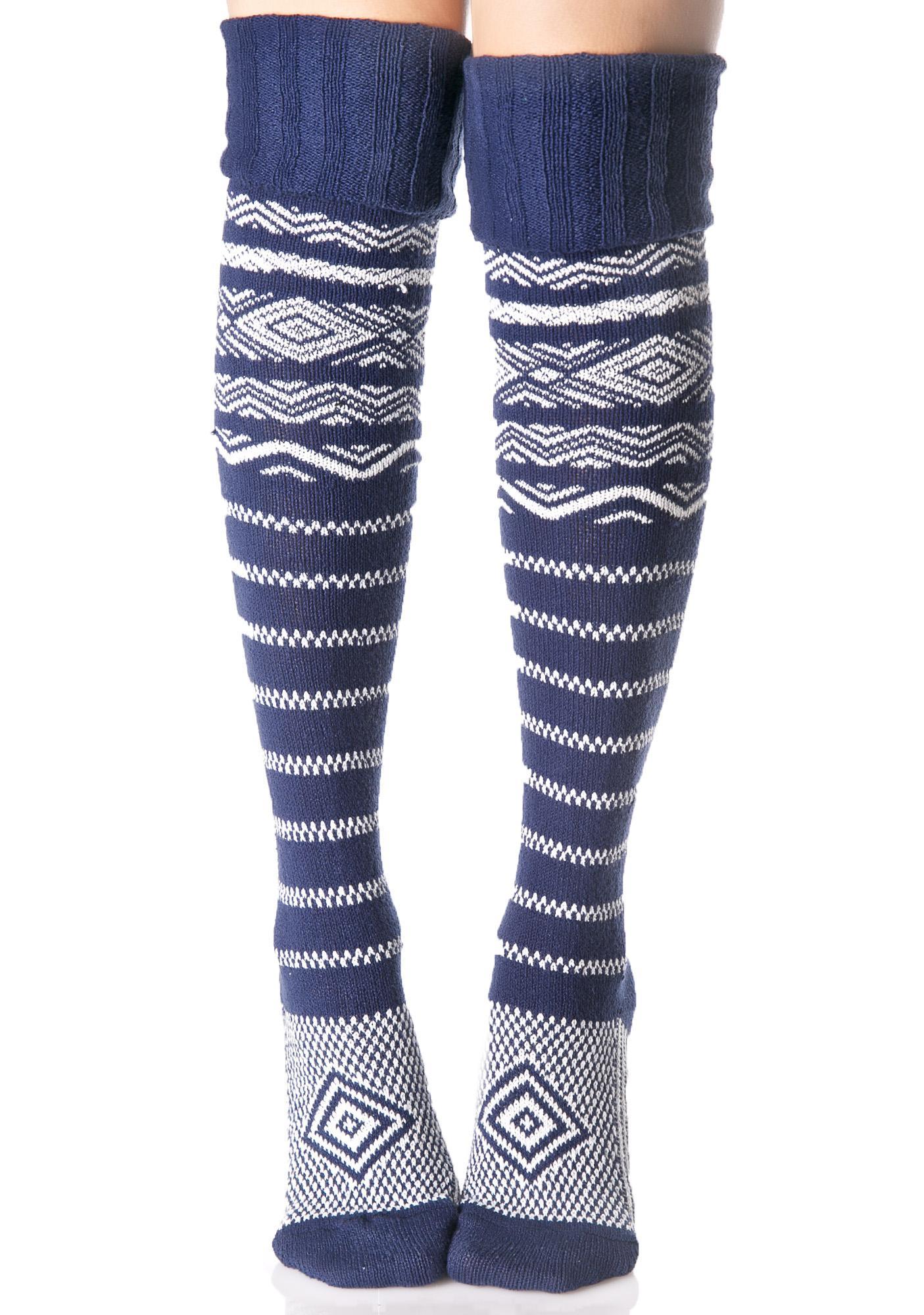 La Mer Thigh High Socks