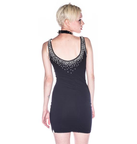 One Teaspoon Just Say Yes Pearl Beaded Dress