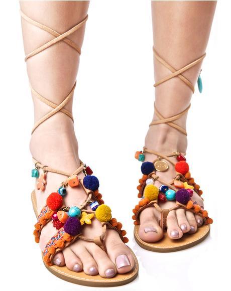 Renata Pom-Pom Sandals