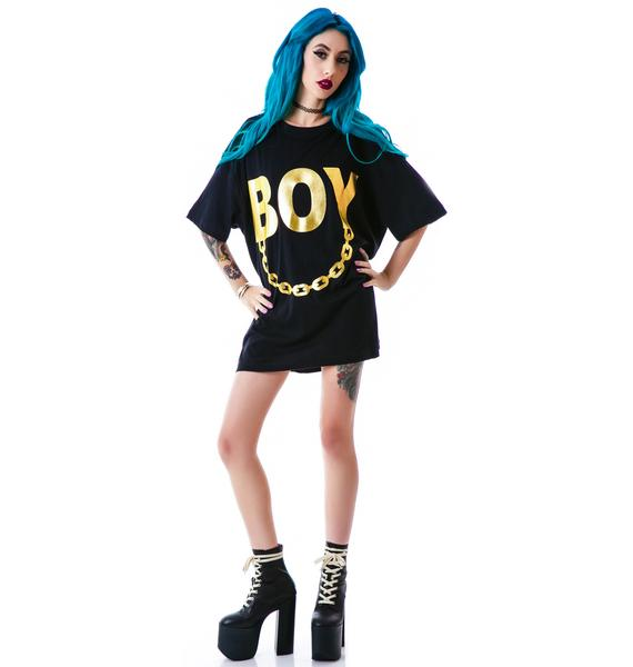 Long Clothing x BOY London Boy Chain Tee