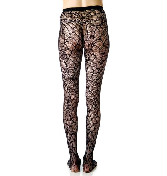 Lip Service Spiderweb Tights