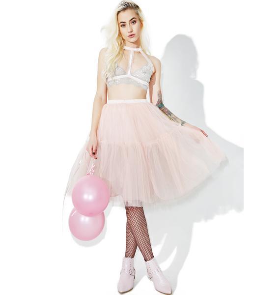 Glamorous Palatial Sheer Maxi Skirt