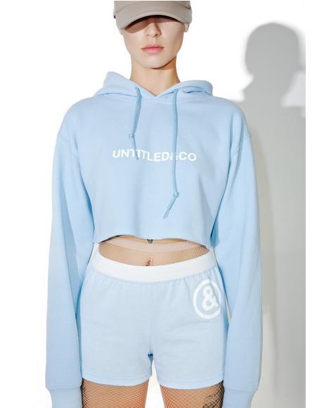Baby Blue Logo Shorts