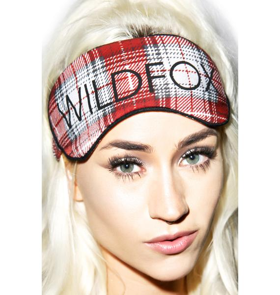Wildfox Couture Sunbleached Plaid Eyemask