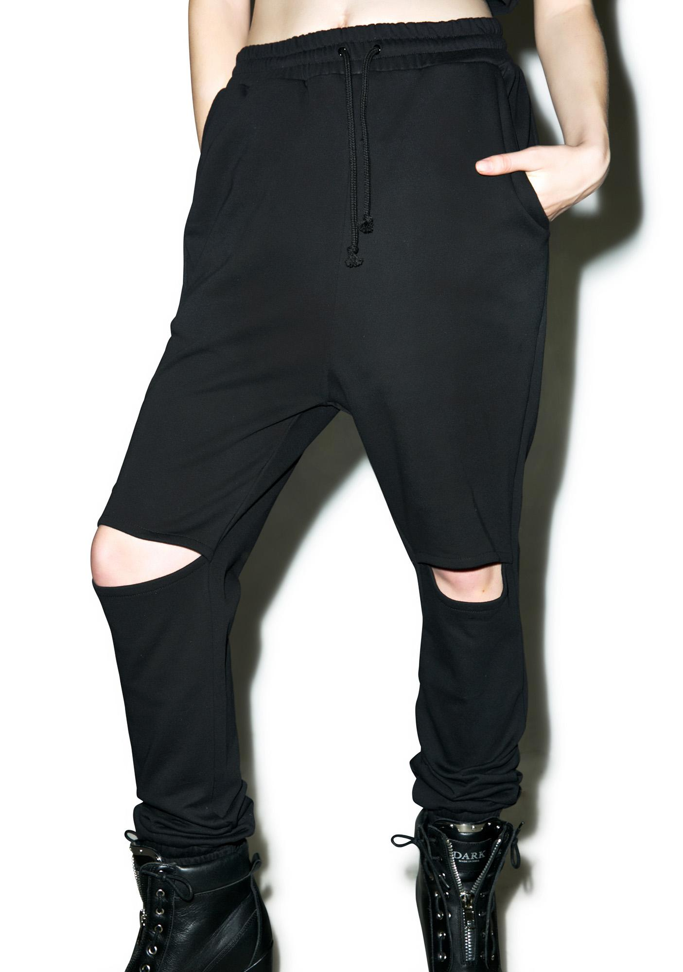 Sinner Cut-Out Sweatpants