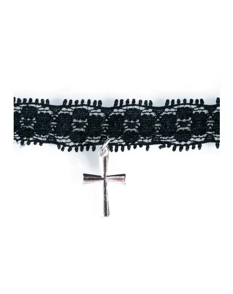 Fall From Grace Lace Choker