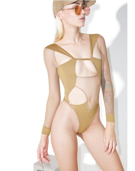 Mesh Cutout Bodysuit