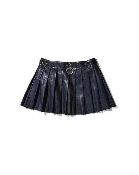 Spade Pleated Mini Skirt