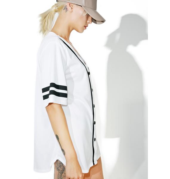 Whiteout Game Over Baseball Jersey