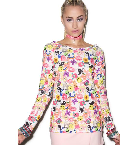 Hot!MeSS Cut Out Elbow Tee