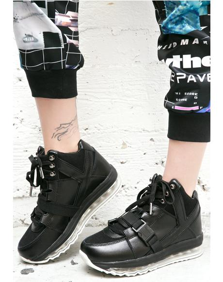 Qozmo Aiire High Top Platform Sneakers