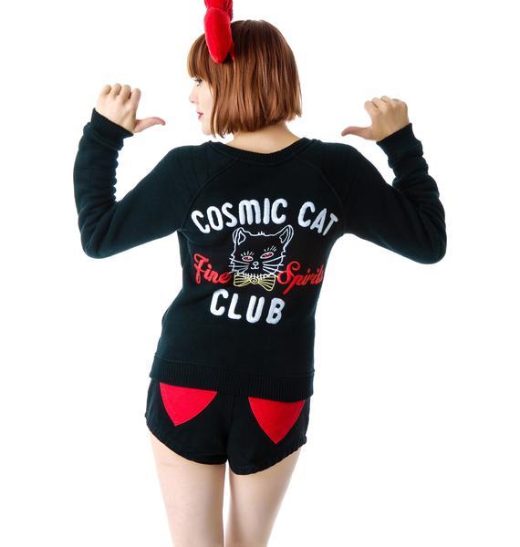 Junk Food Clothing Cosmic Cat Club Zip Up Jacket