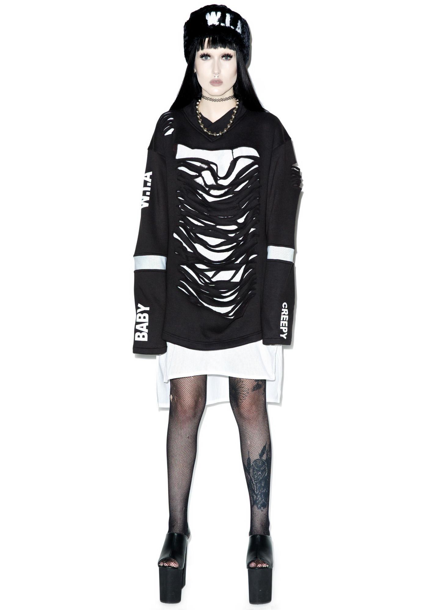 W.I.A X Dolls Kill Destroyed Sweater