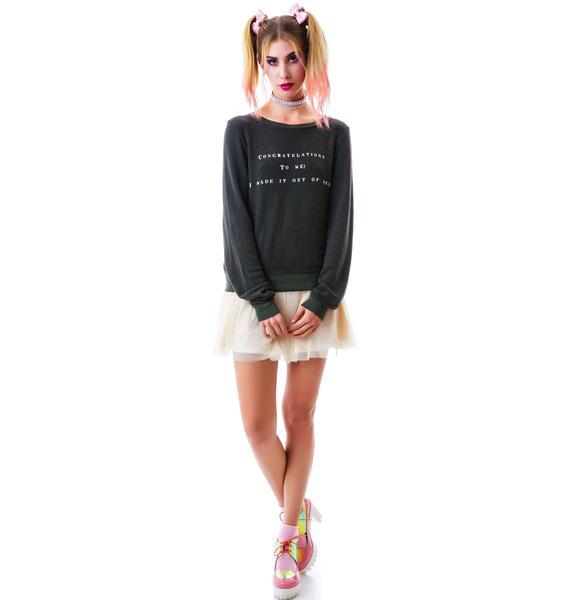 Wildfox Couture Congrat Baggy Beach Jumper