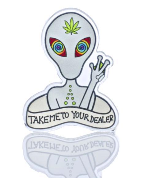 Alien Addict Pin