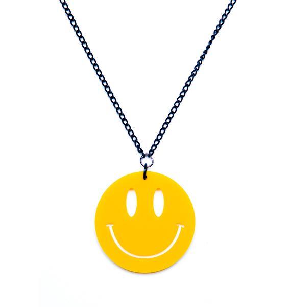 Suzywan Deluxe Mr. Nice Guy Smiley Face Necklace