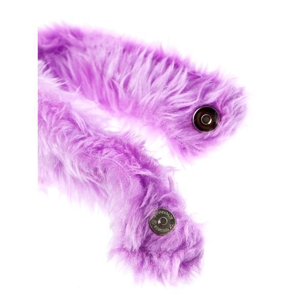 Pht Furry Royal Luvv Fuzzy Choker