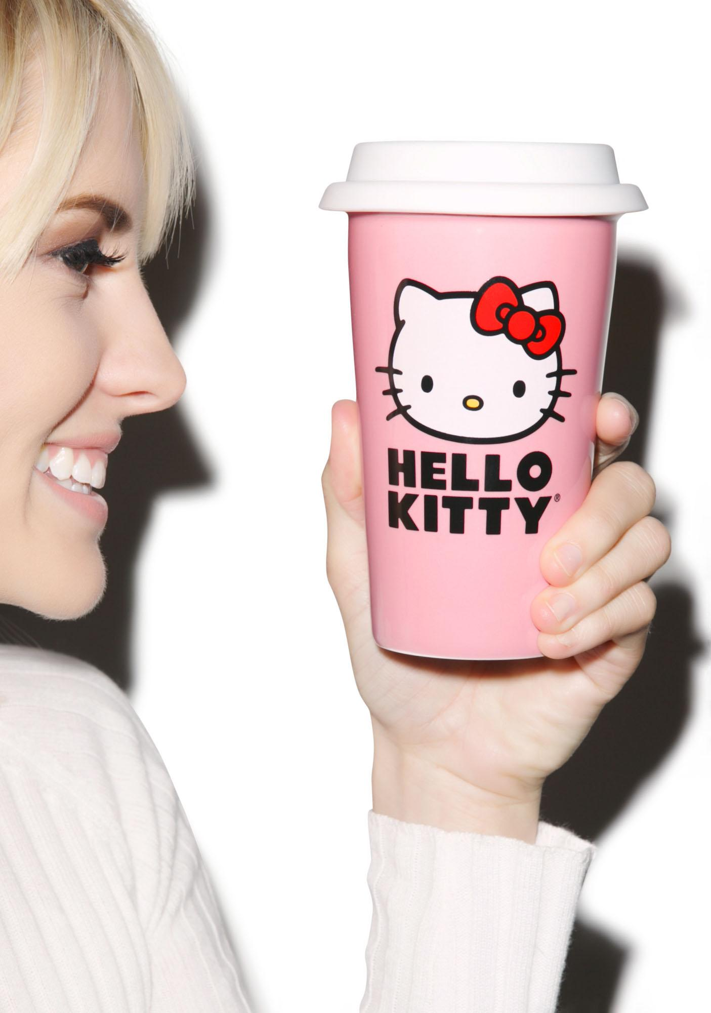 Hello Kitty Ceramic Travel Mug