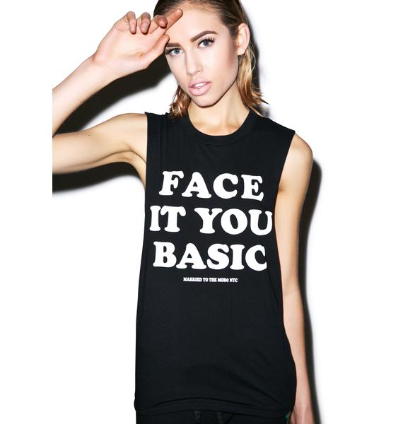 Married to the Mob Face It Muscle Tee
