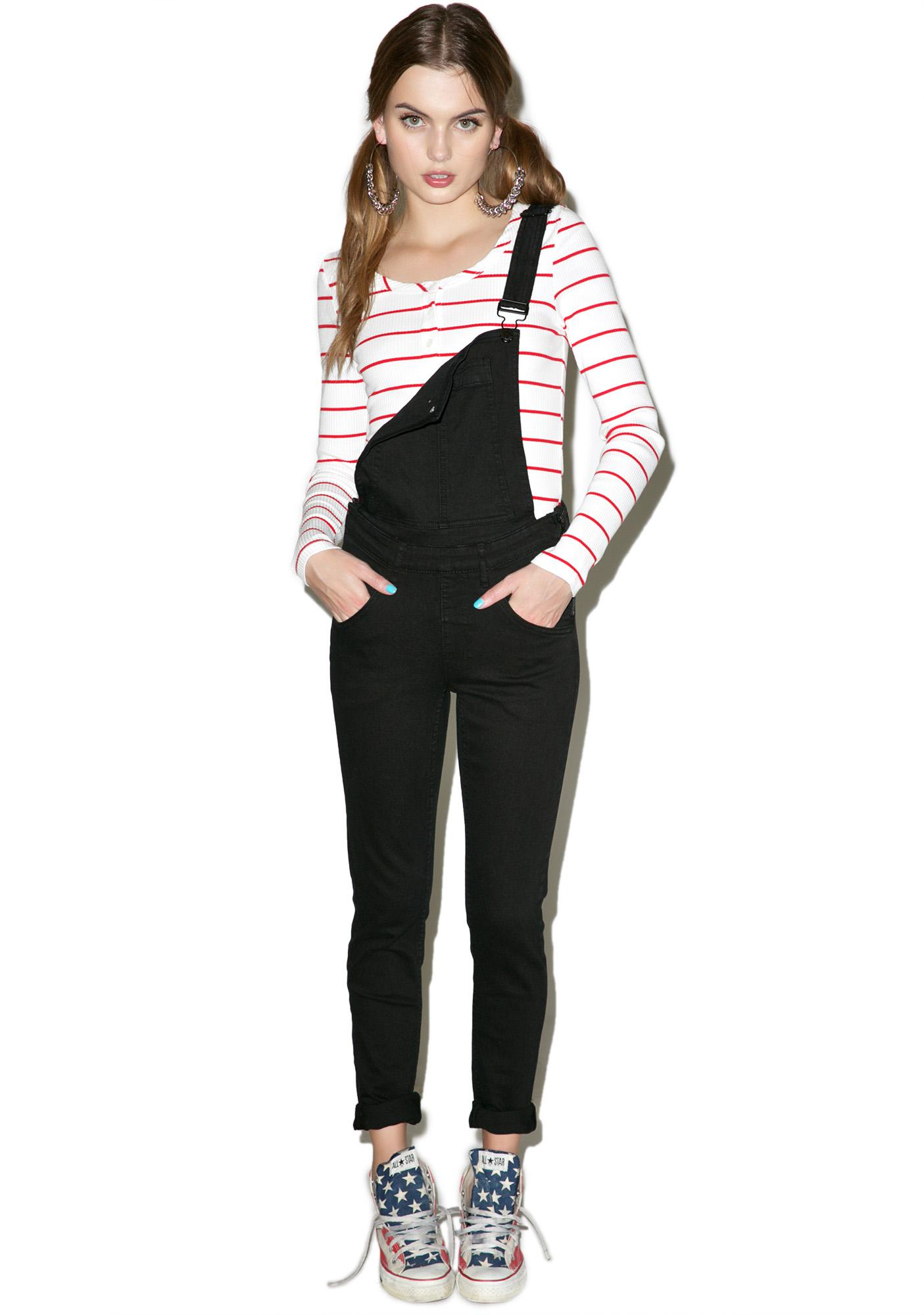Cheap Monday New Black Skinny Dungarees