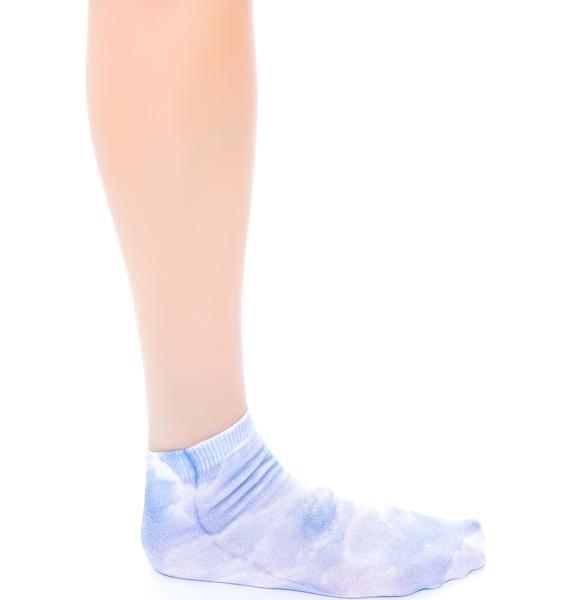 Clouds Below Ankle Socks