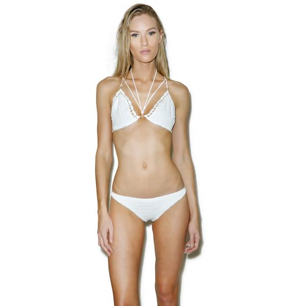Somedays Lovin Somewhere Crochet Bikini Top