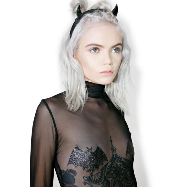 Jaded London Bat Grrl Mesh Bodysuit
