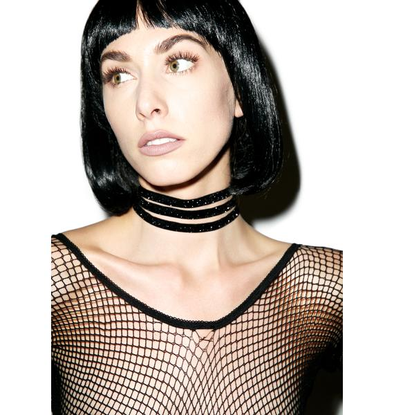 Black Barred Choker