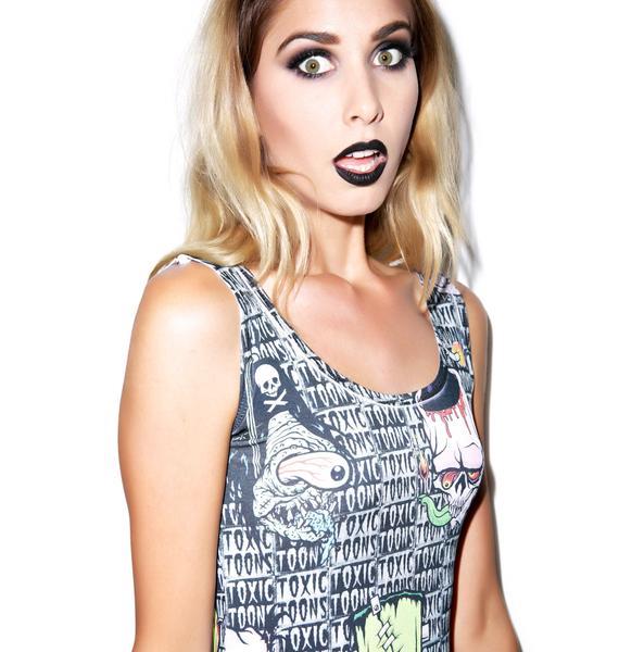 Kreepsville 666 Toxic Toons Ugly Heads Tank Dress