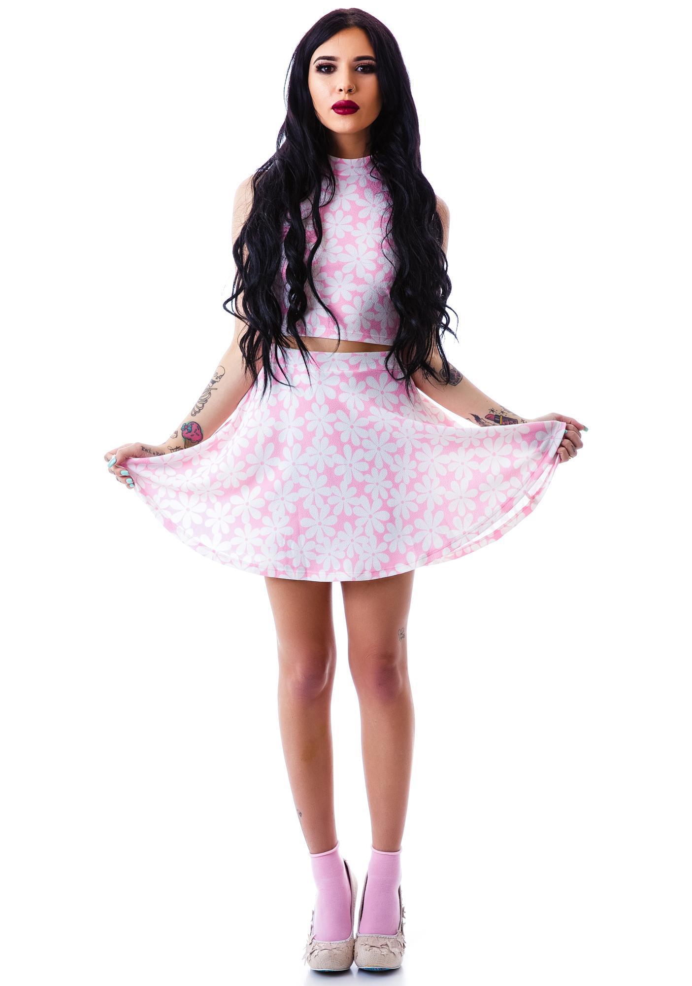 Twiggy Floral Skater Skirt