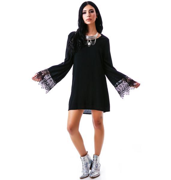 Hippy Bell Sleeve Dress