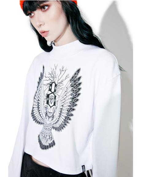 Owl Mock Neck Tee