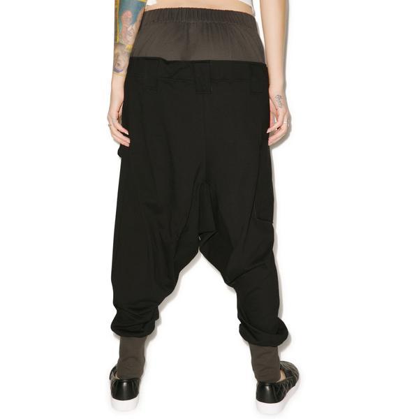 MNML Rust Drop Crotch Pants