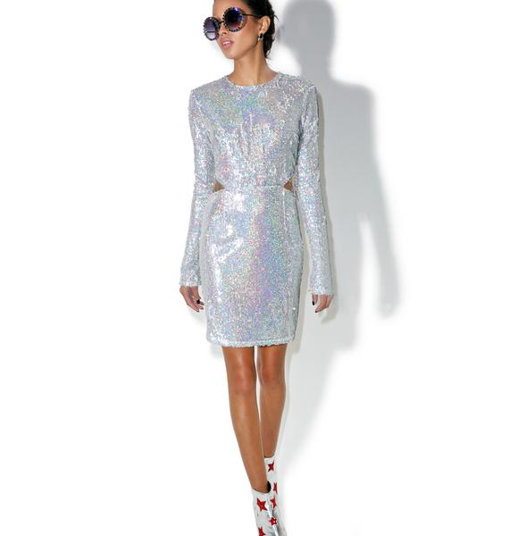 Glamorous Luv Letter Sequin Mini Dress