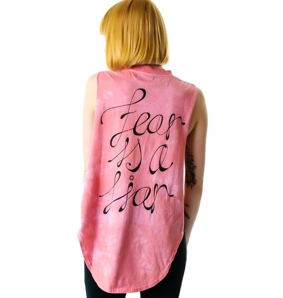 Somedays Lovin Fear is a Liar Tie Dye Tank