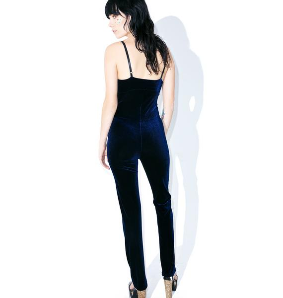 Navy Smooth Operator Jumpsuit