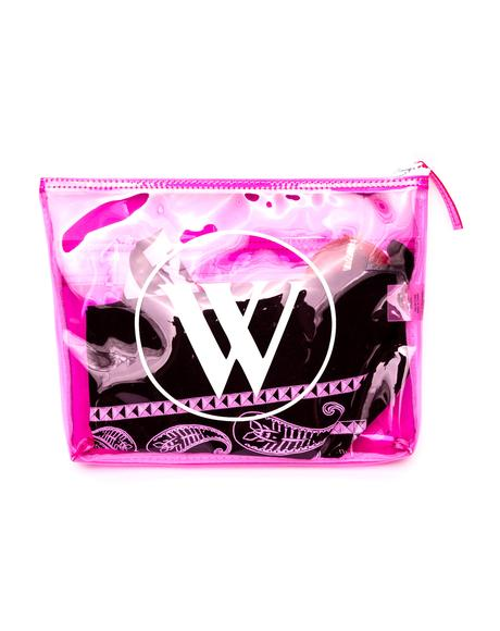 Wildfox Bel Air Vinyl Bikini Bag