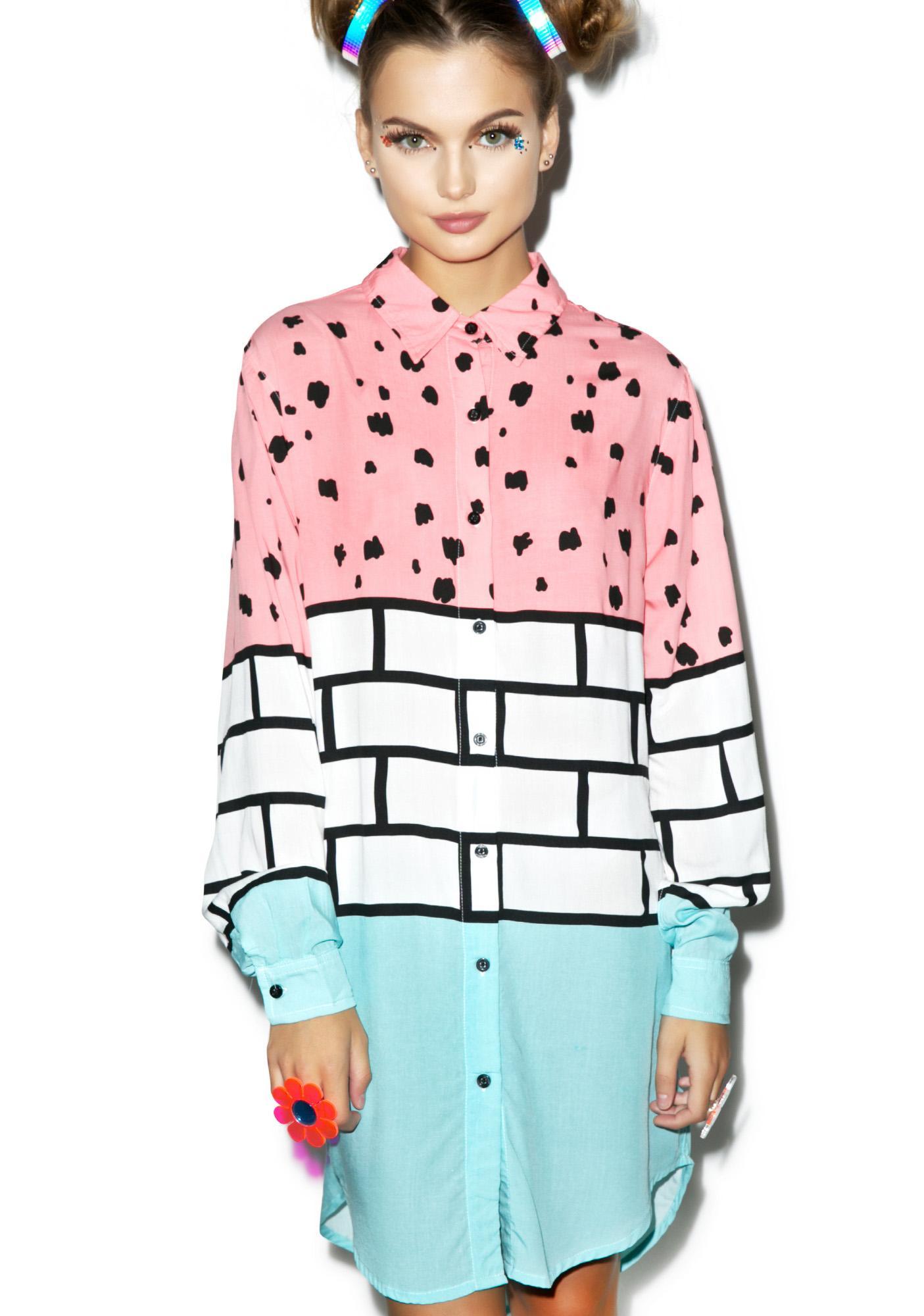 Lazy Oaf Brick Scribble Shirt