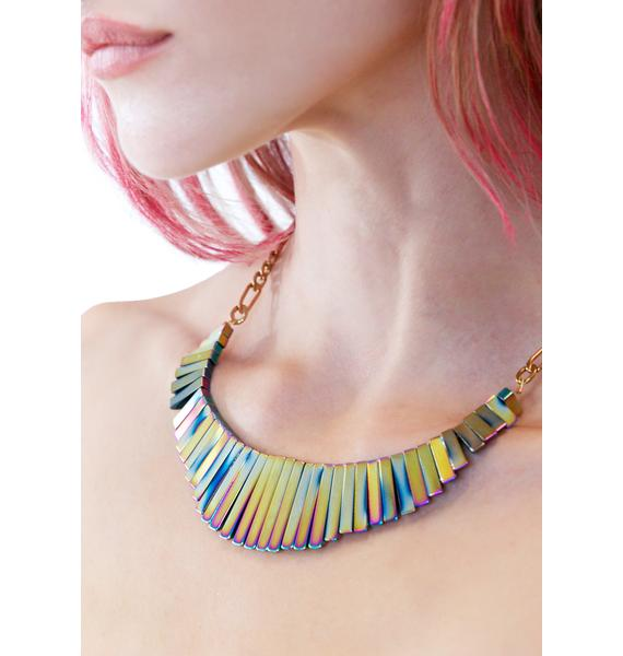 Vittrock Hematite Collar Necklace